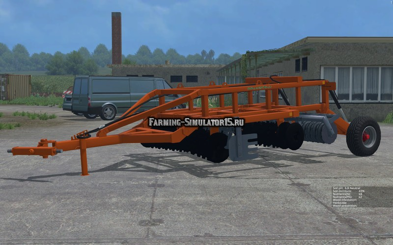 Мод культиватор Laumetris heavy disc harrow LLA - 3 v 1.0 Farming Simulator 2015