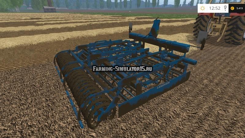 Мод культиватор Lemken Kompaktor S300 v 1.2 Farming Simulator 2015