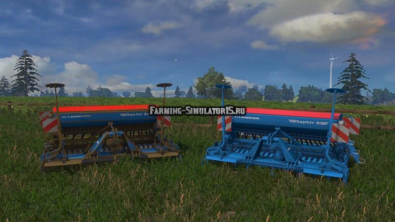 Мод сеялка Lemken Saphir 8 v 1.0 Farming Simulator 15