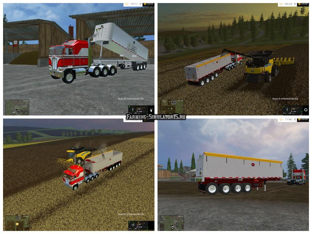 Мод прицеп MAC Dump v 5.0 Farming Simulator 15