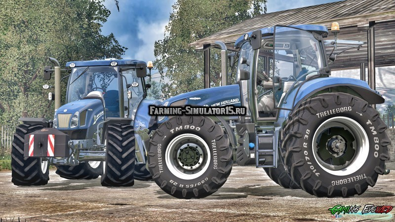 Мод трактор New Holland T6.175 Blue Power v 1.1 FIX Golden Jubilee Farming Simulator 2015