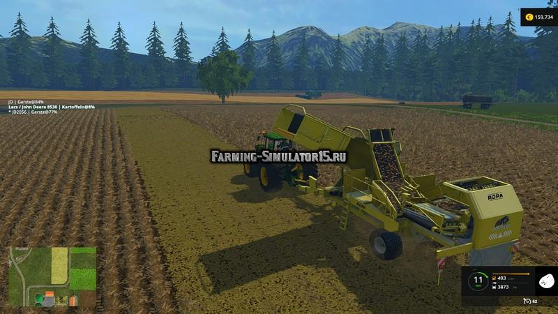 Мод комбайн Ropa Keiler v 1.0 Farming Simultor 2015