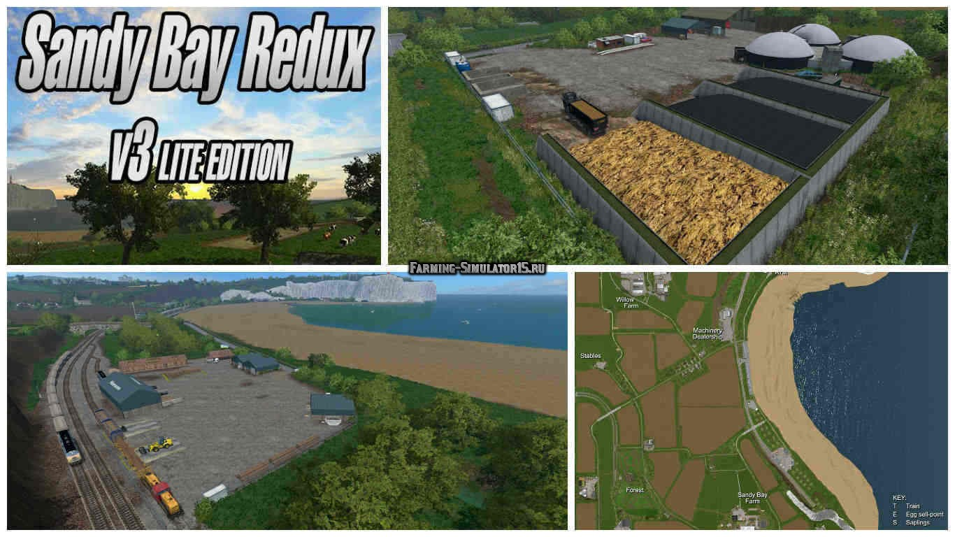 Мод карта Sandy Bay Redux v 3.0 Lite Edition Farming Simulator 15