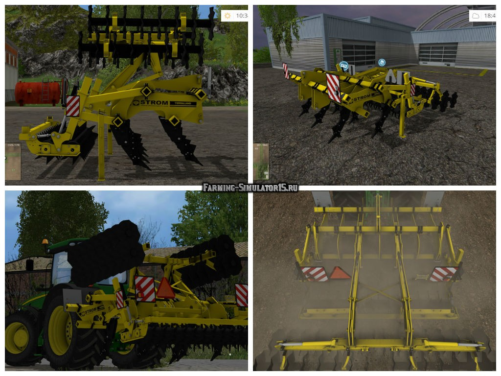 Мод плуг TERRALAND TN PROFI v 1.0 Farming Simulator 15