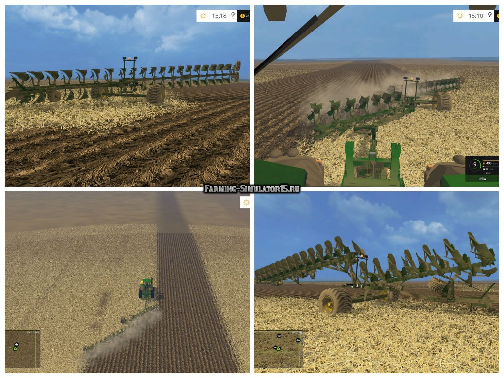 Мод плуг John Deere TITAN20 PLOW v1.0 Farming Simulator 15