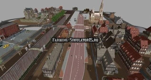 Мод город Altstadt komplett Farming Simulator 2015