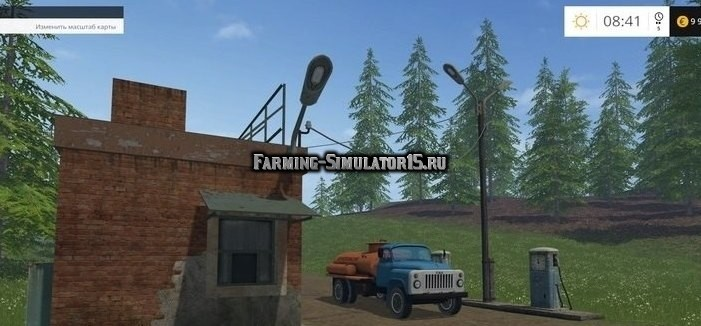 Мод бензовоз ГАЗ-53 и АЗС Фарминг Симулятор 2015