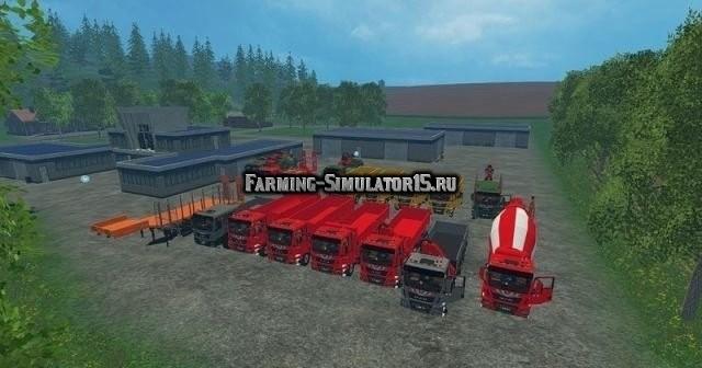 Мод ПАК грузовиков Man v 1.1 Farming Simulator 2015