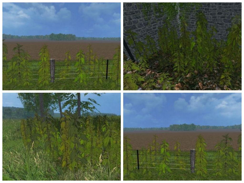 Текстуры Nettles foliage texture Farming Simulator 2015