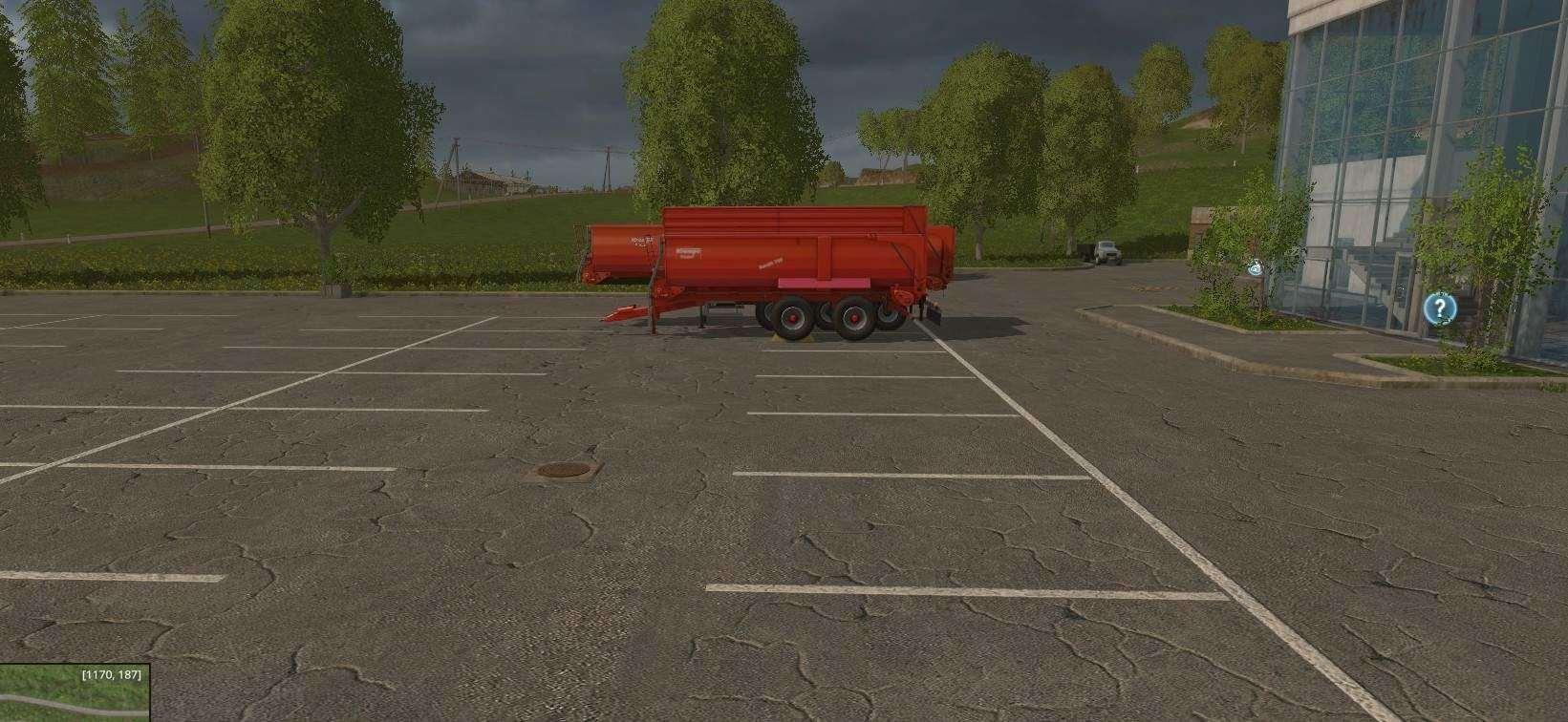 Мод прицепы Krampe Bandit Sattel Red v 1.0.0 Farming Simulator 15