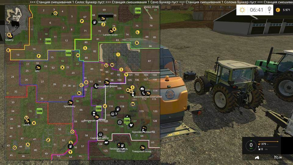 Мод карта Pleasant Valley 2015 V2 RUS Farming Simulator 15