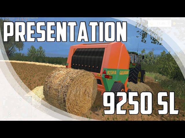 Мод тюкопресс Gallignani 9250 SL Farming Simulator 15