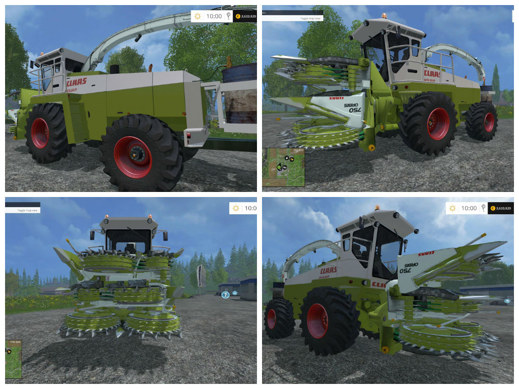 Мод комбайн CLAAS JAGUAR 685 V1 Farming Simulator 15