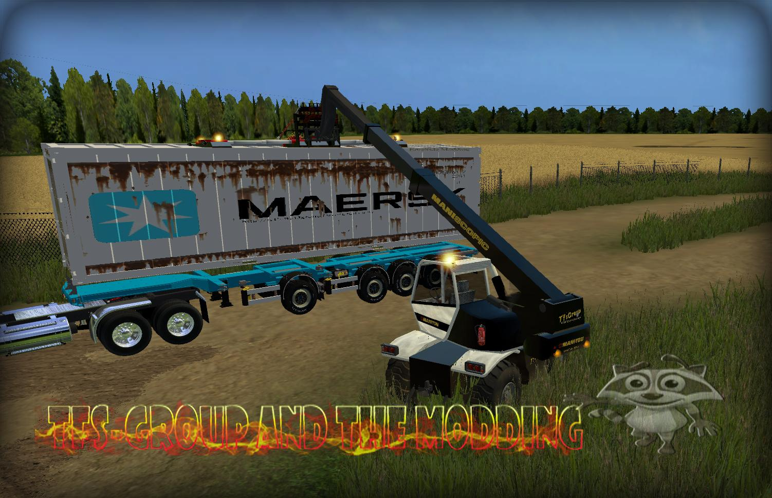 Мод контейнер CONTAINER 40PIEDS OCCASION Farming Simulator 15