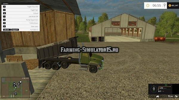 Мод грузовик Cat 660 dump fixed Farming Simulator 15