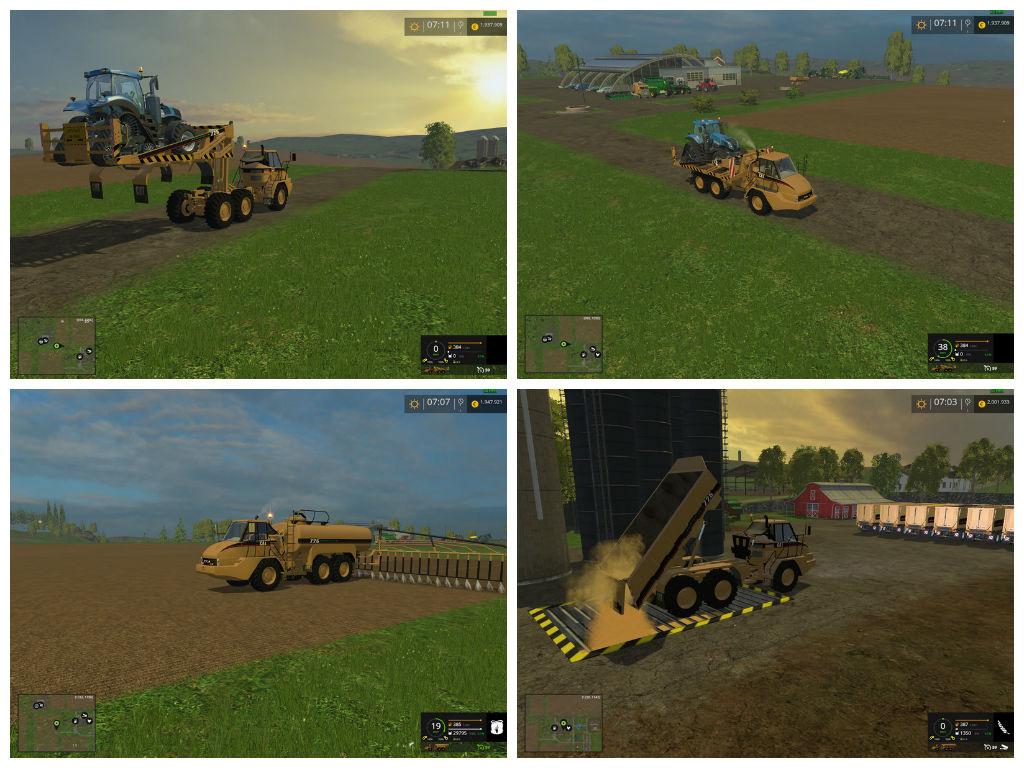 Мод ПАК Cat 725A Pack v 2.5 Farming Simulator 2015