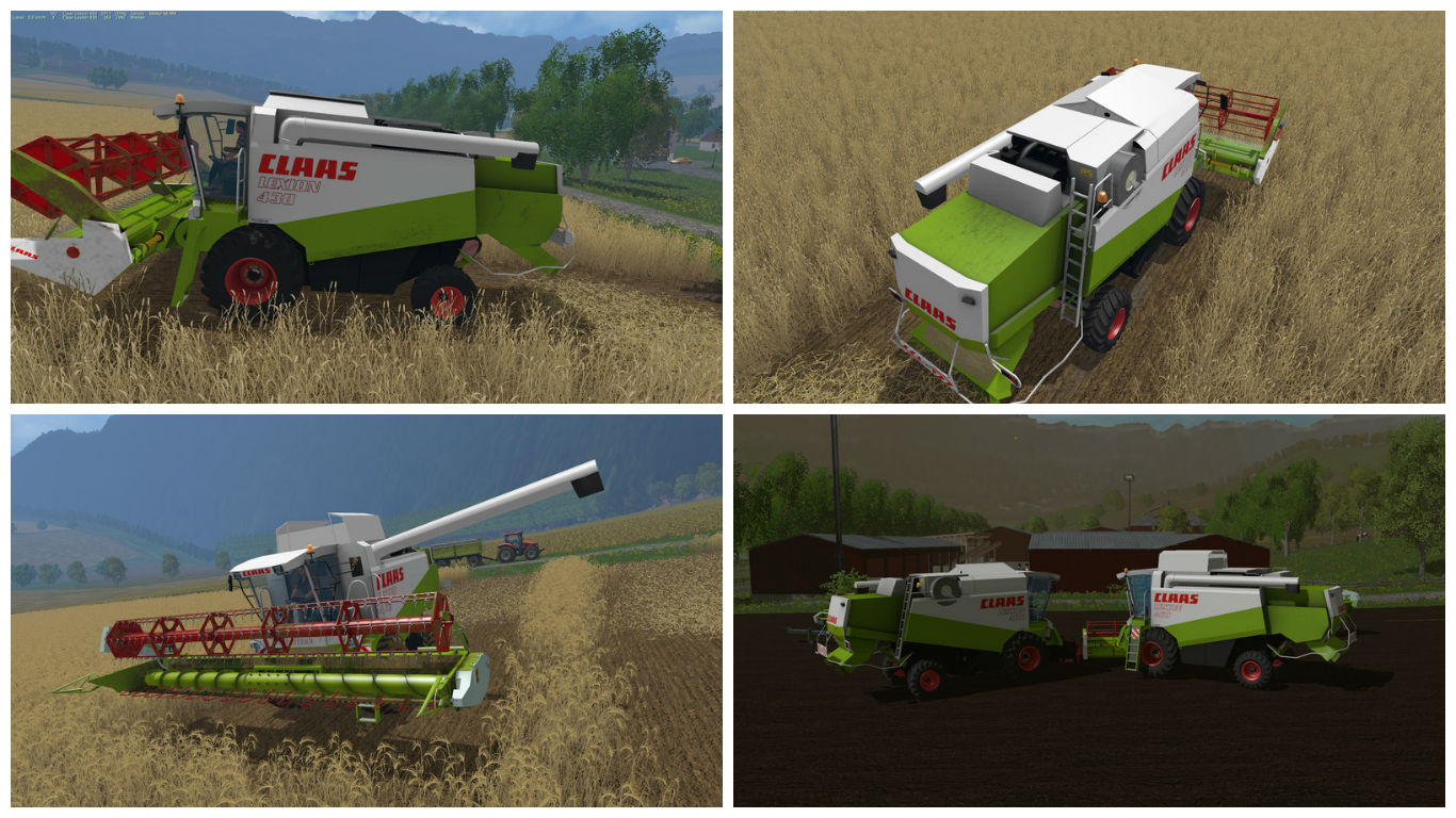 Мод комбайны Claas Lexion 430/460 Pack v 1.3 Farming Simulator 15
