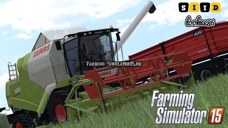 Мод комбайн Claas Tucano 320 V 1.0 Farming Simulator 15