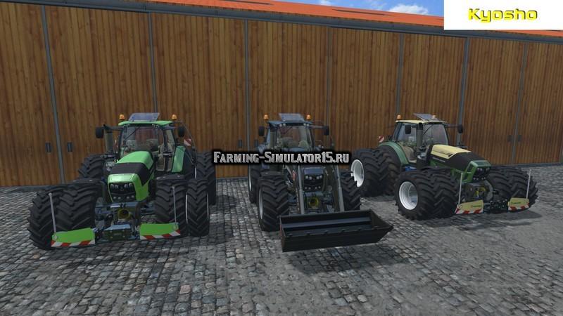 Мод трактор Deutz Fahr 7250 TTV Warrior v 5.0 WheelShader Farming Simulator 15
