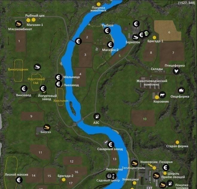 Мод карта Долины Алтая v 4.0 Финал Фермер Симулятор 2015