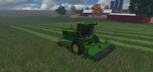 Мод FS15 JOHN DEERE W260 WITH 995 ROTARY CUTTER V1 Farming Simulator 15