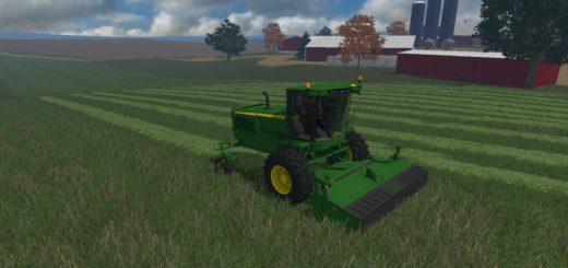 Мод FS15 JOHN DEERE W260 WITH 995 ROTARY CUTTER V1 Farming Simulator 15