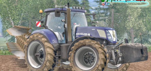 Мод трактора New Holland T7 Series T7.220 & 250 & 270 WheelShader v 1.0 Alpha Farming Simulator 15