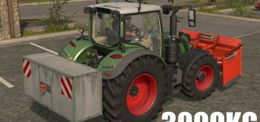 Мод противовес FS17 3000Kg Siloweight V 17.0.0 Farming Simulator 17