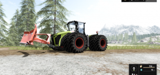 Мод FS17 CLAAS XERION 5000 FULL EDITION Farming Simulator 17