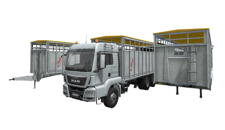 Мод ПАК FS17 Fliegl Animal Transport Pack v 1.0 Farming Simulator 17