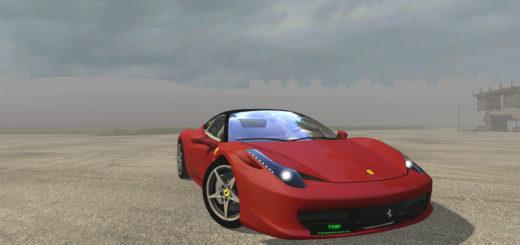 Мод авто FS17 Ferrari 458 Italia V 1.1 Farming Simulator 2017