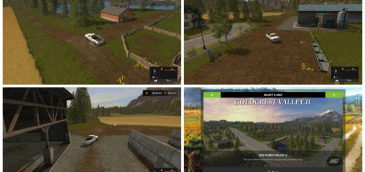 Мод карта FS17 Goldcrest Valley II V 1.0.0.0 Farming Simulator 2017
