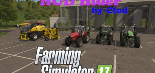Мод скрипт FS17 HUD HIDER BY CLODLS17 Farming Simualtor 17