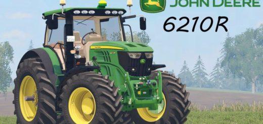 Мод FS17 JOHN DEERE 6210R Farming Simulator 17