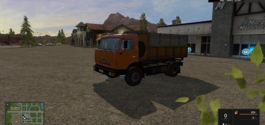 Мод грузовик Камаз FS17 KAMAZ 43255S V1.0 Фермер Симулятор 2017