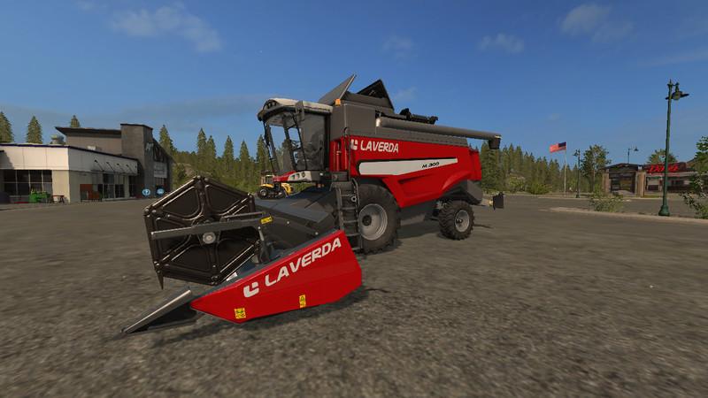 Мод комбайн FS17 Laverda M300 V 1.0 Farming Simulator 2017