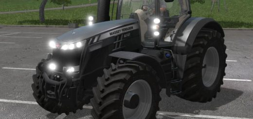 Мод трактор FS17 MASSEY FERGUSON 8737 BLACK EDITION V1 Farming Simulator 17