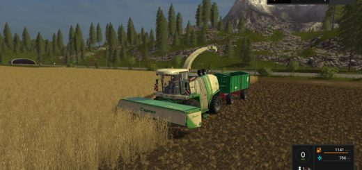 Мод прицеп FS17 MEGA TRAILER V1.0.5.3 Farming Simulator 17