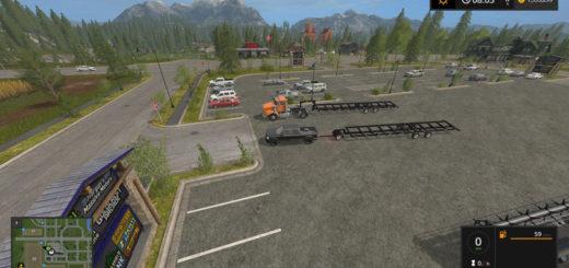 Мод прицеп FS17 Maurer Gooseneck Header Trailer V 1.0 Farming Simulator 2017