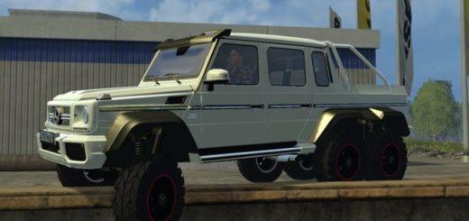 Мод авто FS17 Mercedes Benz G 65 AMG 6×6 V 1 Farming Simulator 17