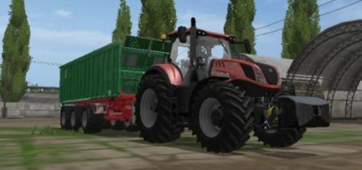 Мод трактор FS17 NEW HOLLAND T7 RED Farming Simulator 17