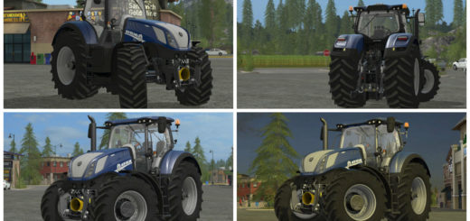 Мод трактор FS17 New Holland T7 Heavy Duty Blue Power V 1.0 Farming Simualator 2017