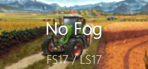 Мод нет тумана FS17 No fog V 2.0 Farming Simulator 17