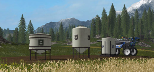 Мод FS17 Placeable Refill Tanks Farming Simulator 2017
