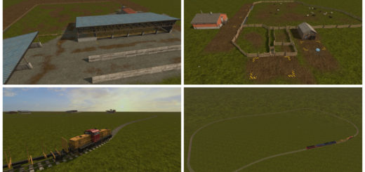 Мод карта FS17 Sample mod Map V 1.2 Farming Simulator 17