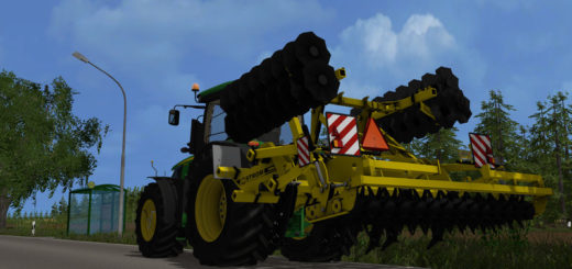 Мод культиватор FS17 Terraland TN Senior V 1.0 Farming Simulator 2017