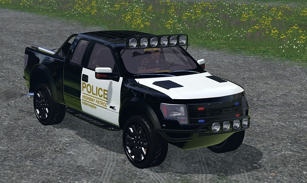 Мод авто Ford F150 Police Raptor V 1.0 Farming Simulator 15
