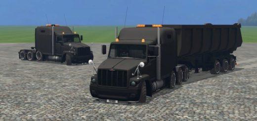 Мод грузовик ГАЗ GAZ Titan Black v 4.5 Фарминг Симулятор 2015