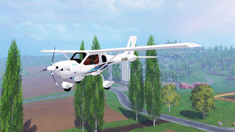 Мод самолет JABIRU J430 Farming Simulator 15