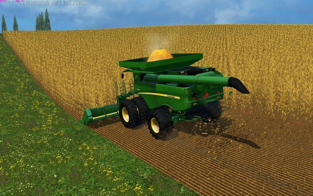 Мод комбайн JOHN DEERE S690I JBK V1.0 Farming Simulator 2015